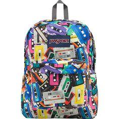 JanSport SuperBreak Backpack ($30) ❤ liked on Polyvore featuring bags, backpacks, black, school & day hiking backpacks, rucksack bag, strap bag, padded bag, jansport and backpacks bags