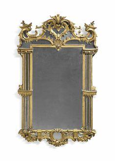 A GEORGE II GILTWOOD MIRROR, CIRCA 1750