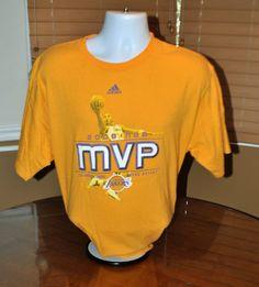 GU Mens ADIDAS LOS ANGELES LAKERS 2008 MVP KOBE BRYANT Yellow 2XL XXL Basketball $17.99