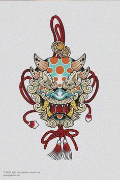 Traditional Japanese Tattoo Flash, Traditional Tattoo Art, Japan Tattoo Design, Lion Tattoo Design, Japanese Flower Tattoo, Japanese Tattoo Designs, Body Art Tattoos, Hand Tattoos, Soft Tattoo