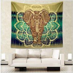 Cycle d/'âge mur pendaison astrologie tapisserie dortoir Home Decor Poster Blue Zodiac