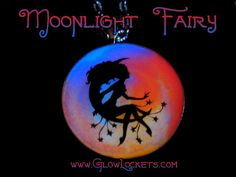 Moonlight Glow Fairy Moon And Stars Pendant Rainbow by MoniqueLula, $18.00
