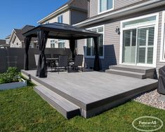Small Backyard Decks, Backyard Patio Designs, Yard Design, Backyard Deck Ideas On A Budget, Pvc Decking, Composite Decking, Low Deck Designs, Landscaping Around Deck, Backyard Landscaping
