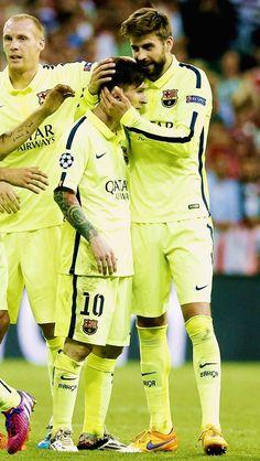 Leo & Piqué lionel messi leo messi messi Gerard Piqué Piqué champions league cute