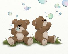 Teddy Bear Nursery Wall Print 8 x 10 by NaturesHeavenlyArt on Etsy