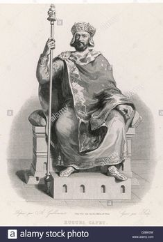HUGUES CAPET king of the Franks, seated on his throne. Date: circa 940 - 996 Stock Photo Hugues Capet, King, Stock Photos, Painting, Art, Art Background, Painting Art, Kunst, Gcse Art