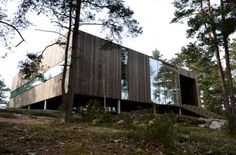 Square House Veierland 2 460x304 Деревянная дача в Норвегии