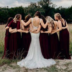 beautiful moments with your beautiful bridesmaids 🥰 Merlot Chiffon Bridesmaids, Bridesmaid Dresses, Wedding Dresses, Beautiful Moments, Rustic Wedding, Chiffon, Weddings, Bridal, Party