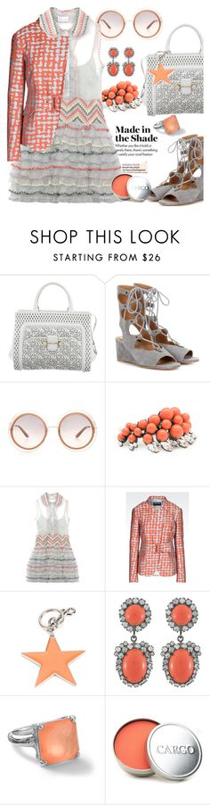 """""""Blush pack"""" by pensivepeacock ❤ liked on Polyvore featuring Jason Wu, Ellen Conde, RED Valentino, Emporio Armani, STELLA McCARTNEY, Kenneth Jay Lane, Ippolita and CARGO"""
