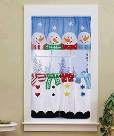 Make Christmas Kitchen Curtains Christmas Sewing, Christmas Love, Christmas Snowman, Christmas Projects, All Things Christmas, Christmas Holidays, Christmas Ornaments, Christmas Kitchen Curtains, Christmas Table Cloth