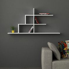 Floating Shelves - Shelves are fantastic, as well as you simply can not have way too many of them. Shelves include a storage solution to your Creative Bookshelves, Bookshelf Design, Bookcase Shelves, Wall Shelves Design, Wooden Shelves, Diy Furniture, Furniture Design, Geometric Furniture, Furniture Deals
