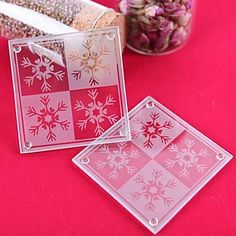 Lustrous Snowflake Coasters (set of 2) – AUD $ 2.63