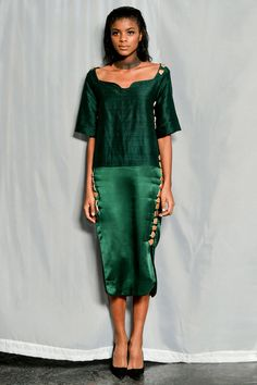 Finally, some emerald. Maki Oh Spring 2014 Ready-to-Wear Collection Slideshow on Style.com