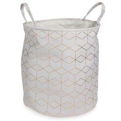Panier à linge en tissu H 45 cm COPPER