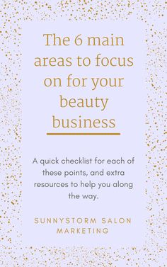 There are 6 main areas that you need to focus on for an amazing beauty brand marketing. This guide gives you a quick checklist for each of these points, and extra resources to help you along the way. Build your salon business through online marketing and advertising #onlinebusinessandmarketing