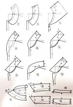 The Princess (Seam) Diaries: Turn Bodice Darts Into Princess Seams Sewing Basics, Sewing Hacks, Sewing Tutorials, Sewing Tips, Corset Pattern, Collar Pattern, Techniques Couture, Sewing Techniques, Dress Sewing Patterns