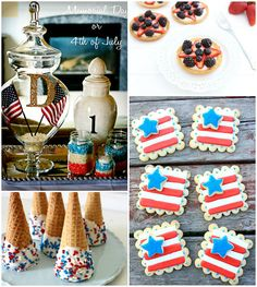 Patriotic Summer Ideas - I love July 4th celebrations and these recipes look so yummy. Must try this year.
