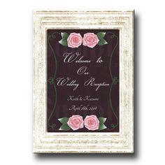 Rose Wedding Welcome Board