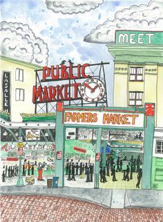 Seattle's famous Pike Place Market. Created in 1907to connect the city's citizens and farmers, Pike Place Market is a beloved Seattle treasure. Covering thenine-acre Market Historic District over...