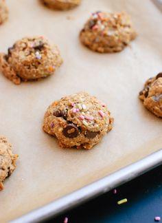 Peanut butter banana honey oat chocolate chip cookies recipe