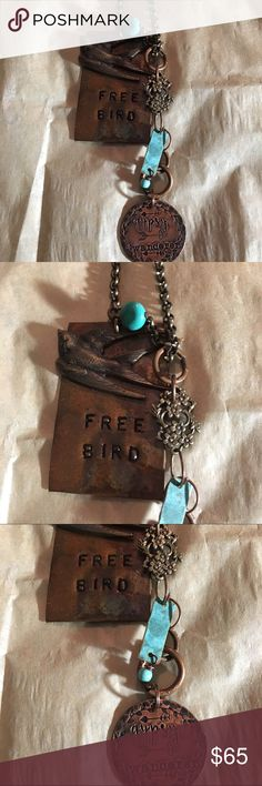 Handmade 💕Host Pick💕Freebird Leather Necklace Handmade 💕Host Pick💕Freebird Leather Necklace Jewelry Necklaces