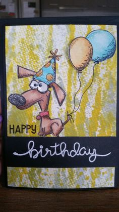 Crazy Dogs Birthday Card