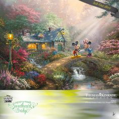 """Disney Collector Alert – """"Mickey and Minnie - Sweetheart Bridge"""" by The Thomas…"""