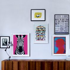 Put up bold wall art | How to decorate a rented property | easy decorating ideas | PHOTO GALLERY | housetohome