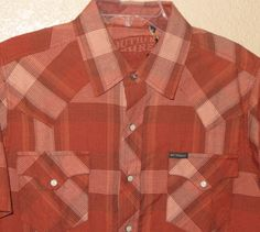 SOUTHERN THREAD MENS Retro SS Cowboy Rodeo Western Plaid SHIRT NWT M $54 retail our prices are WAY BELOW RETAIL! all JEWELRY SHIPS FREE! www.baharanchwesternwear.com baha ranch western wear ebay seller id soloedition