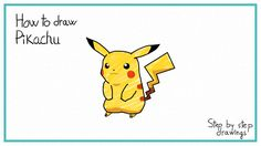 how to draw Pikachu #drawings #stepbystep #howto #pokemon