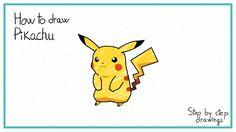 how to draw Pikachu #drawings #stepbystep #howto #pokemon