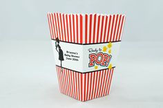 Ready To Pop - Personalized Baby Shower Popcorn Boxes