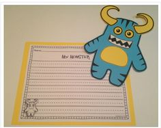Halloween writing activity about monsters students create