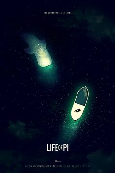Beautiful poster design for Life of Pi | The contrast is stunning | Digital art selected for the Daily Inspiration #1604