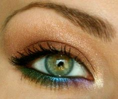 This is what color my eyes are.. Except my green is darker. Everyone thinks that I have brown eyes.. NO I don't.