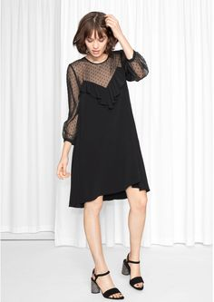 & Other Stories image 2 of Plumeti Dress  in Black