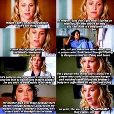 """Calzona- """"So, yeah, the word I use is 'AWESOME'. That's who I am."""" When we all realized Arizona was awesome."""