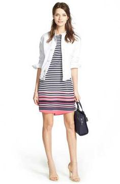 Women casual jacket and dress outfit
