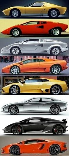 Lambo Evolution! Which is your favourite model?