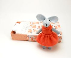 Doll in a matchbox mouse plush salmon orange by atelierpompadour https://www.etsy.com/listing/183269676/soft-toy-pink-mouse-in-a-matchbox?ref=shop_home_active_1
