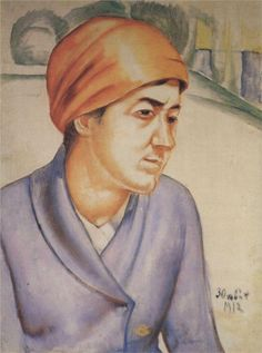 Portrait of M.F.Petrova-Vodkina, 1912 Kuzma Petrov-Vodkin