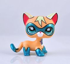 Comic-con cat Littlest Pet Shop Super Hero Child Girl Figure Cat Toy Loose RARE Xmas Gift | eBay