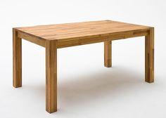 Esstisch Wildeiche massiv Holz ausziehbar 5789. Buy now at https://www.moebel-wohnbar.de/esstisch-ausziehbar-peter-esszimmertisch-160x90-wildeiche-massiv-5789.html