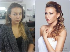 Bridal make-up, Hairstyling, Bride blonde,