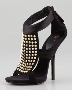 Giuseppe Zanotti Studded Satin-Heel Suede Bootie - This fashion