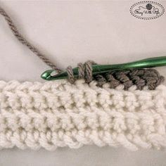 How to create a slanted hdc stitch. String With Style