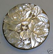 Vintage Schildkraut compact with mother of pearl top