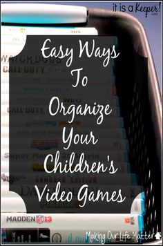 Need some ideas to organize your child's video games? I am sharing on @itsakeeperblog some great tips!