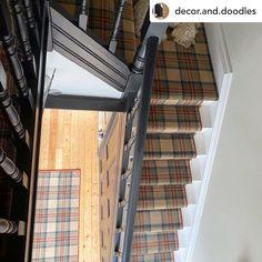 Modern Color Palette, Modern Colors, Carpet Stairs, Carpet Flooring, Tartan Carpet, Macdonald Tartan, Axminster Carpets, Royal Stewart Tartan, Home Carpet