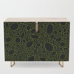 Organic - Lime Green Credenza by laec | Society6